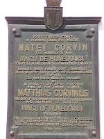 King Matyas memorial plate