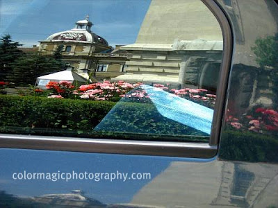 Reflection in a car window