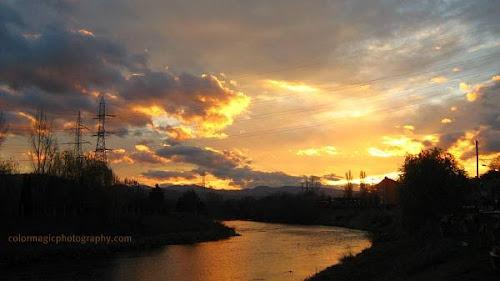 November river sunset
