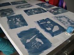Trabalho de Cianotipia de aluna foi escolhido para cartazes e camisetas de divulgação da multifeira