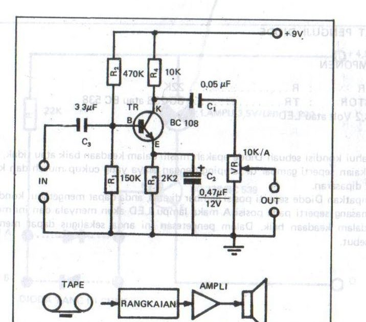 the amplifier circuit high tone  treble
