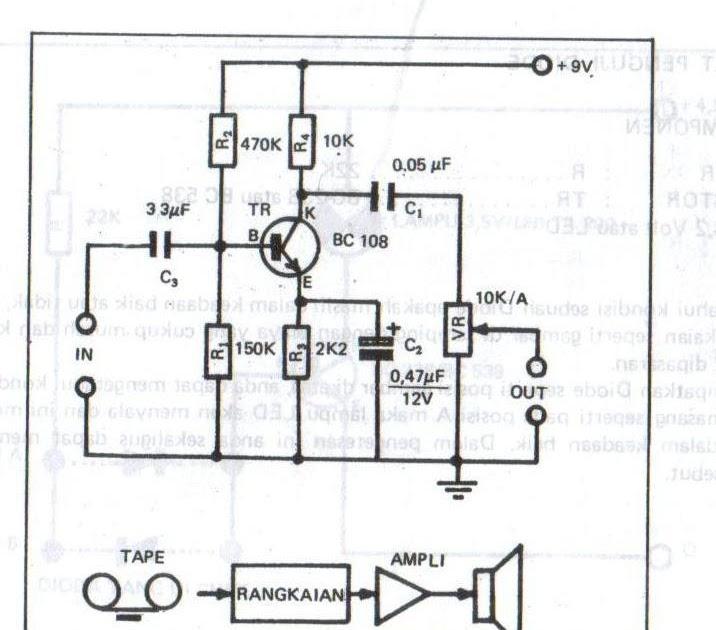 the amplifier circuit high tone  treble