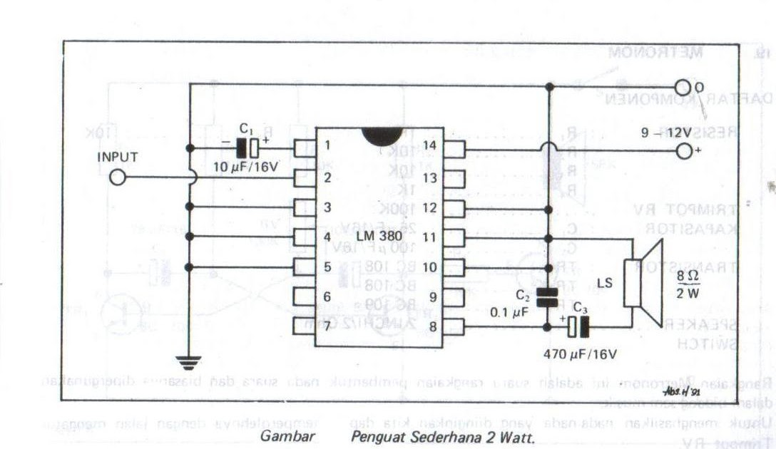 simple amplifier 2 watts