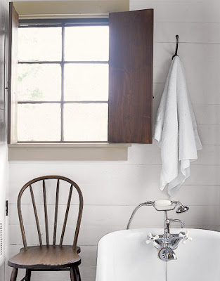 simply decorated: white bathrooms