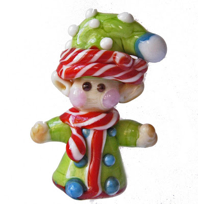 elf-lampwork-glass-bead-handmade