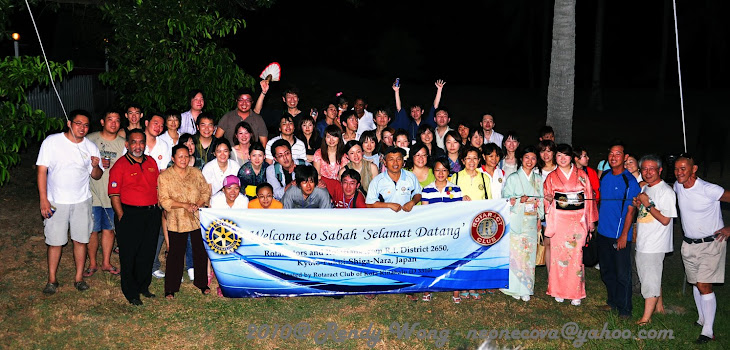 Fellowship with our sponsoring club - Rotaray Club of Kota Kinabalu