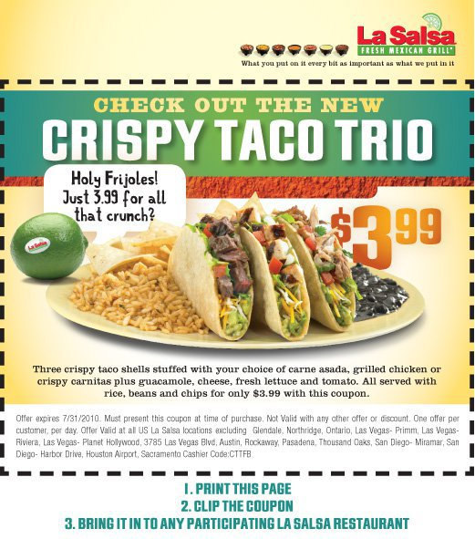 La salsa coupons
