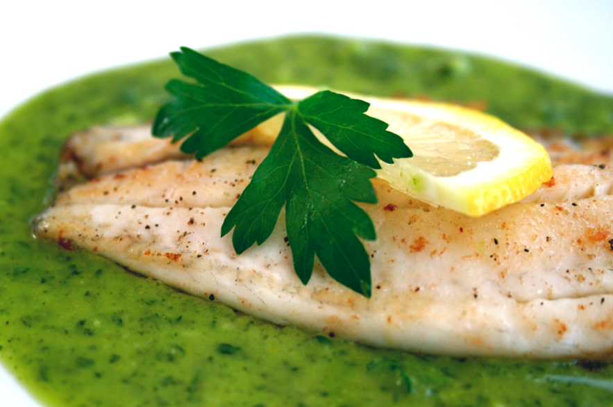 Food is luv fish w parsley lemon sauce for Lemon fish sauce recipe