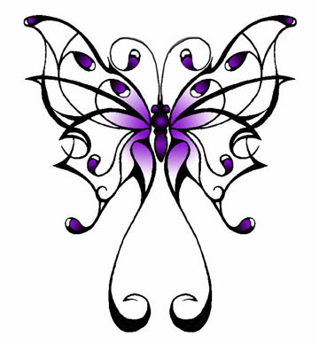 Butterfly Tattoo Design by Greg James