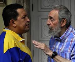 encuentro de Fidel con Chávez