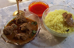 Coconut Rice, Mince ball Curry and devil Chutney