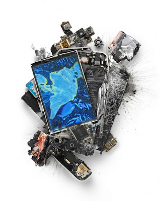 Destroyed iphone, Ipad, Macbook