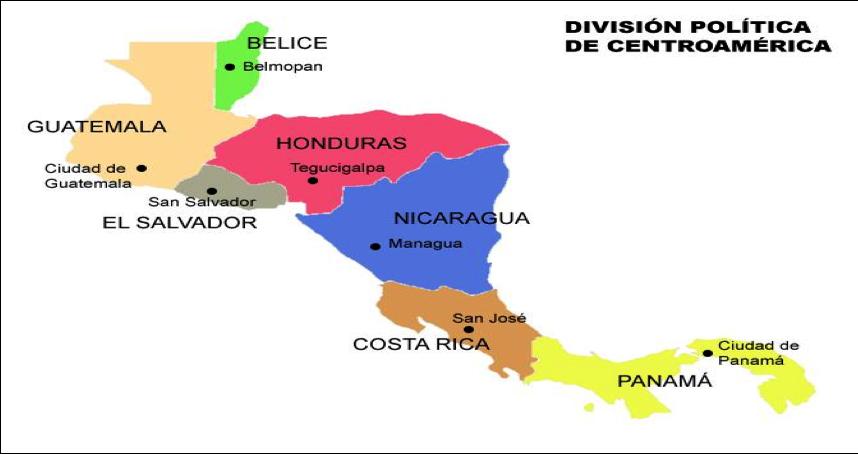 Imagenes del mapa de centro america - Imagui