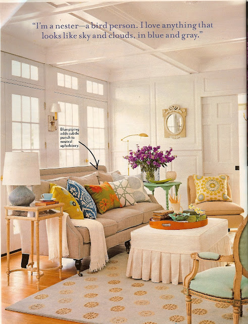 Don't you think this furniture setting would work so well in my completely empty living room? image from the March Country Living Issue