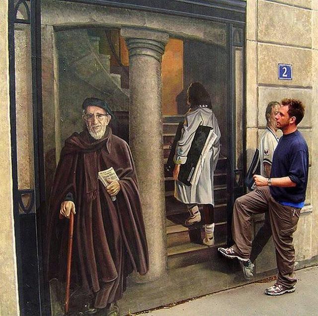 لوحات جدارية ابداعية Wall-drawings15