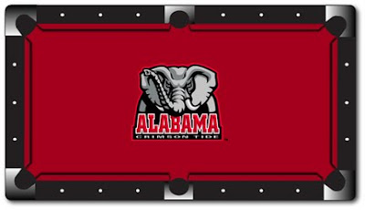 University of Alabama pool table felt.