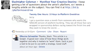 Screen shot of Slash Coleman blog post