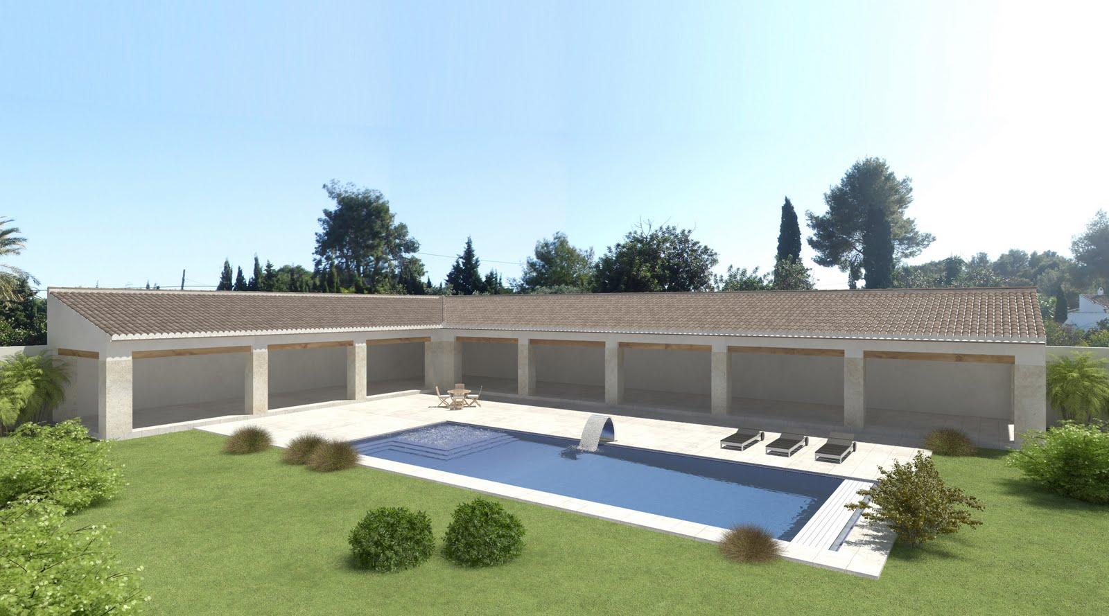 Proyectos de piscinas o spas en 3d lucas gunitec for Proyecto de piscina