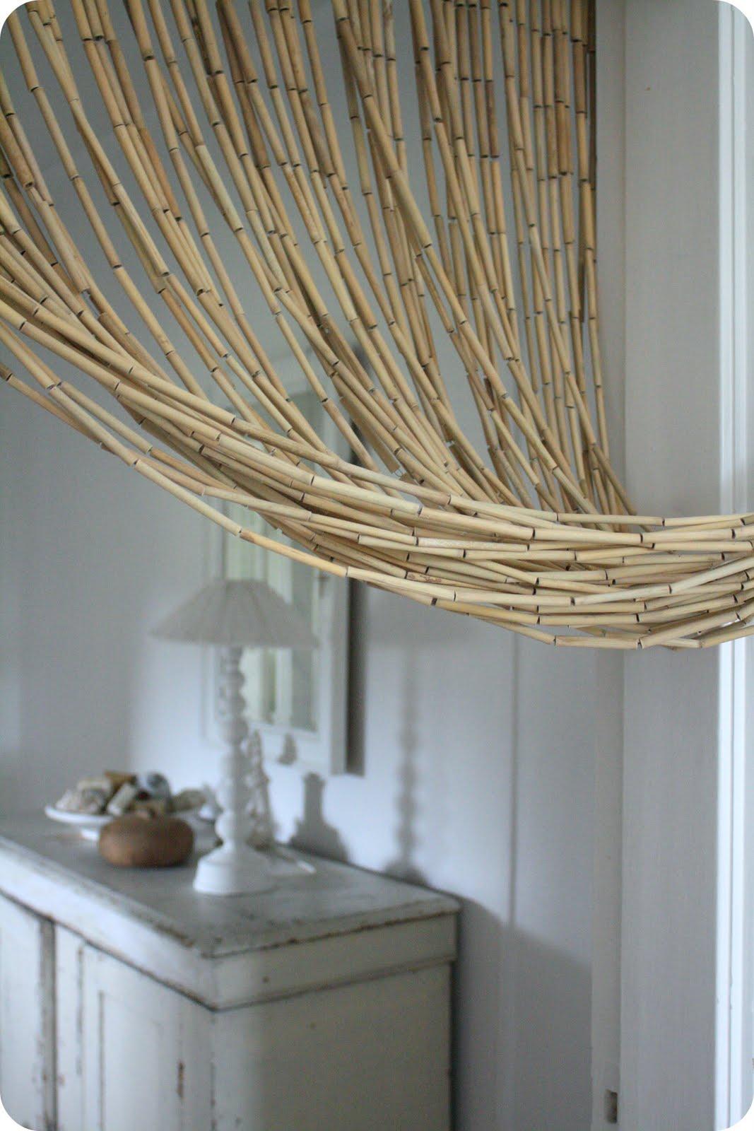 Draperi dörr bambu