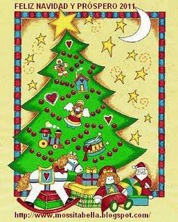 tarjeta de navidad que me regalo mi amiga gloria