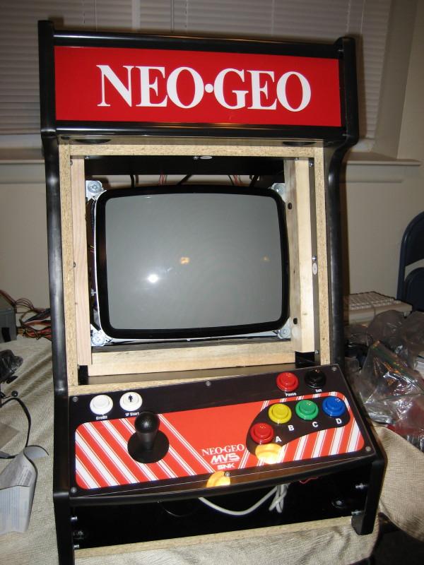 A Modding Home Companion My Fall Project Neo Geo Bartop