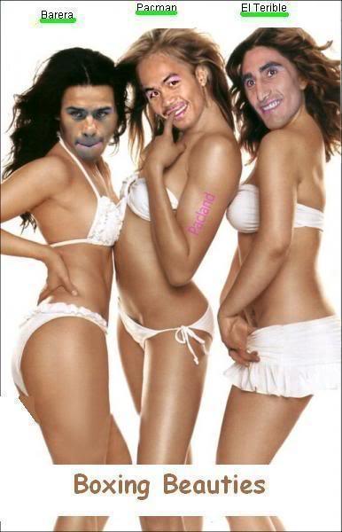Manny Pacquiao, Marco Antonio  Barrera And Erik Morales As Sexy Girls
