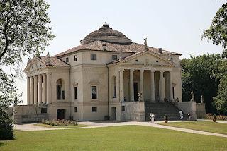 Bilde av Villa Capra som også kalles Villa Rotunda. Villaen ligger like utenfor Vicenza i Italia