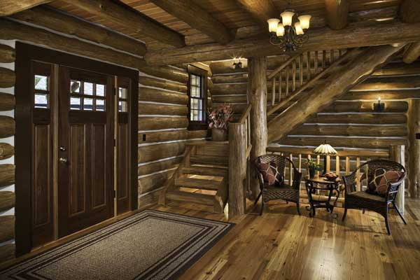 Western Log Home Interiors
