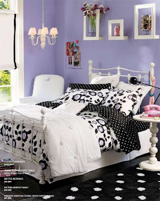 Beautiful teenage bedroom ideas beautiful girl bedroom decor big chandelier teenage bedroom - Purple black and white room ideas ...