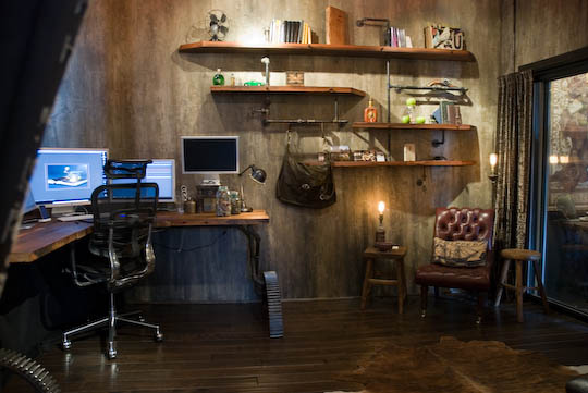 Alkemie a very cool industrial and rocking office a look for Studio apartment office