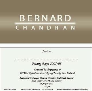 Bernard Chandran fashion show...DI Petang Raya..