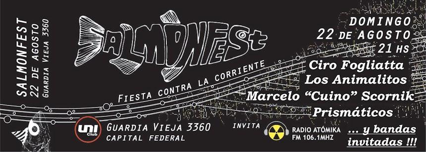 "Salmonfest, con Los Animalitos, ""Cuino"" Scornik, Ciro Fogliatta, Prismáticos  y bandas invitadas"