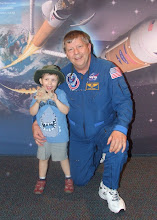 Leo with Astronaut Roger Crouch, Kennedy Space Centre, FL, USA, May 2010