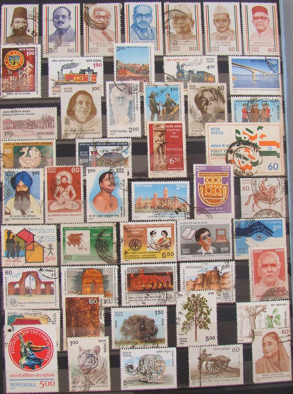 My postage stamps collection india 1985 90 for International collection