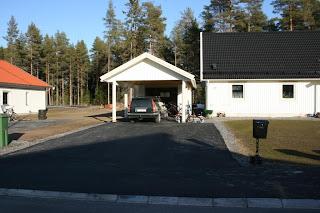 Garageuppfart asfalt