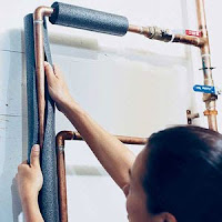 It's easy and inexpensive to insulate your water pipes with pre-slit foam pipe insulation. You'll get hot water faster plus avoid wasting water while it heats up.