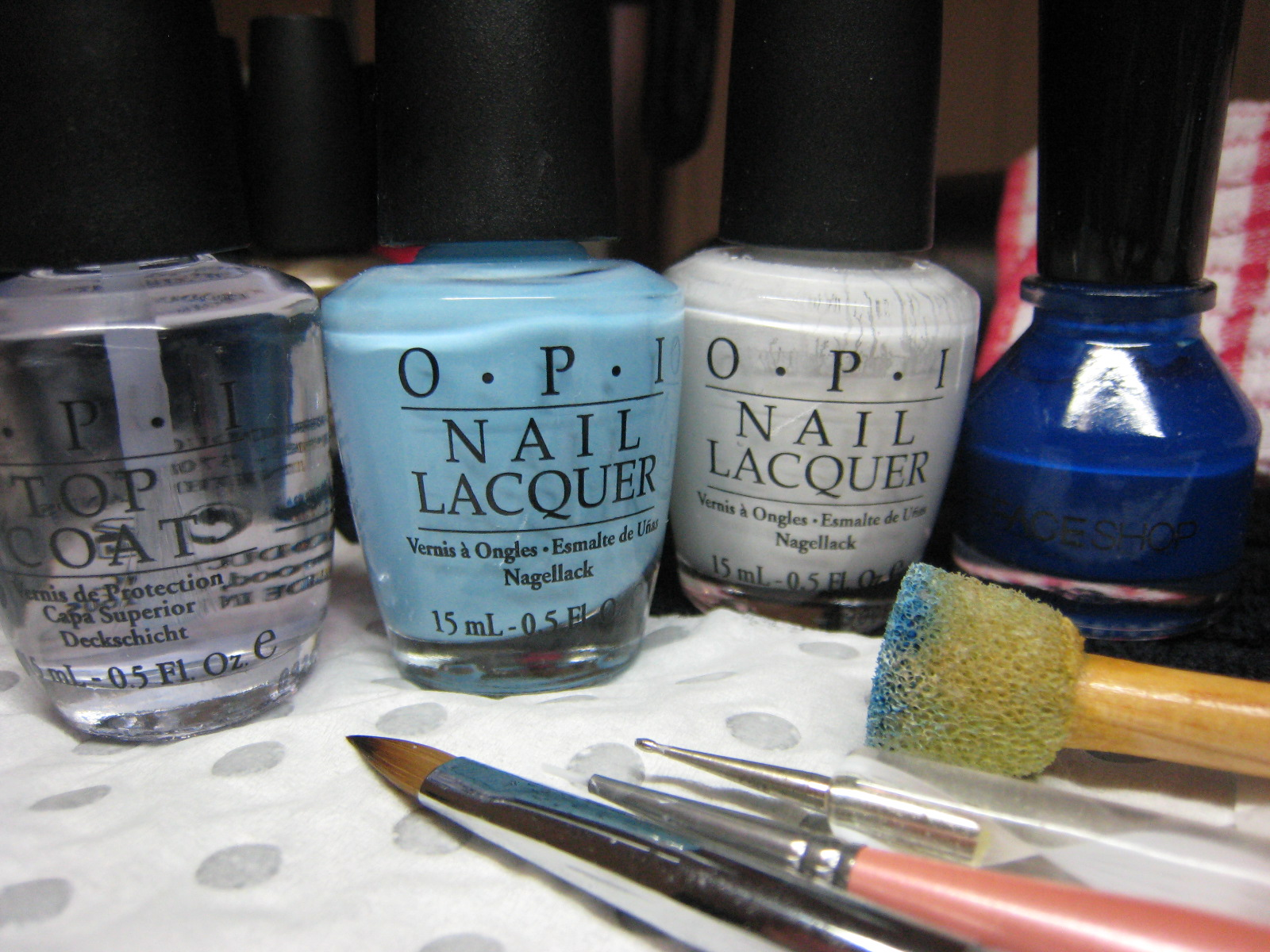 Jin Jins Adventures Sponging And Patchwork Nail Design