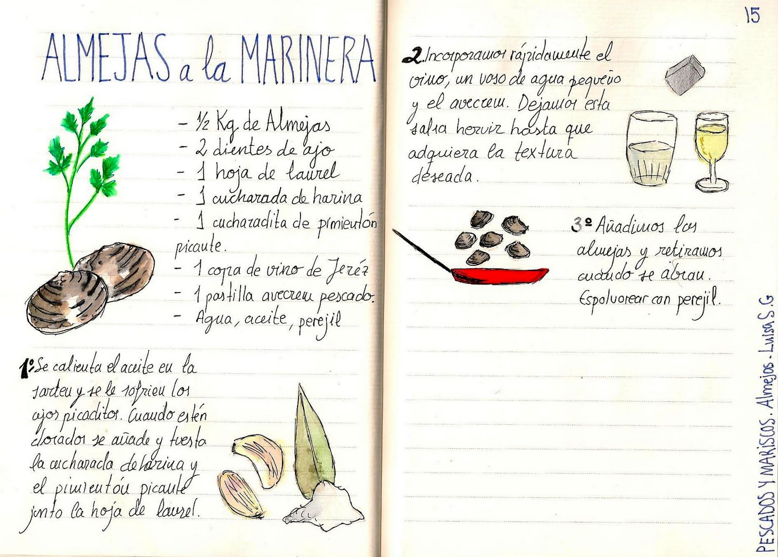 Almejas a la marinera cocina recetas pinterest - Cocimax recetas ...