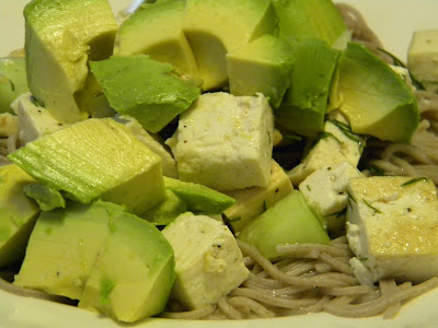 Lemon Cucumber Tofu Salad Recipe