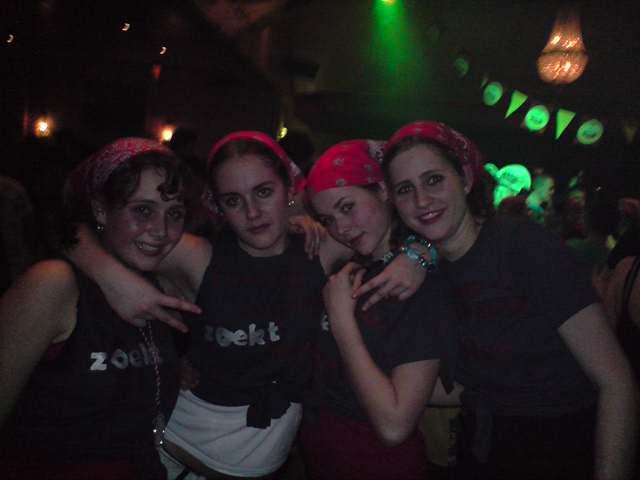 Thema avond: Simone, Alexandra, Francesca en Marleen