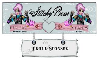 Stitchy Bear Digital Stamps