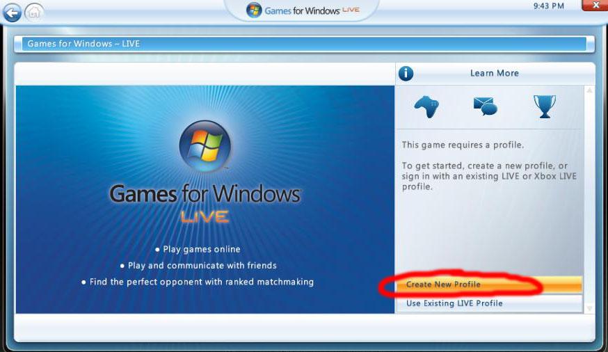 games for windows live konto erstellen