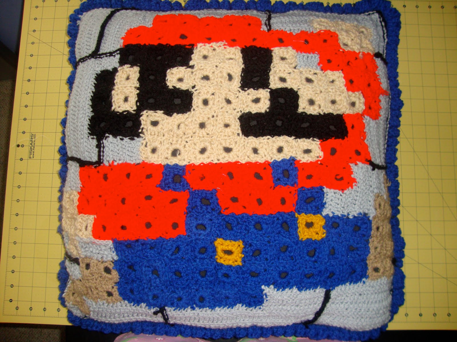 Bethany Sew-and-Sew: Super Mario Crocheted Pillow Tutorial
