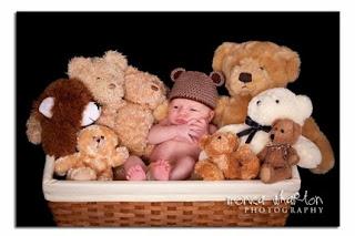 baby in tassel hat