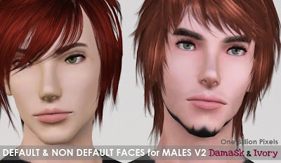 Finds Sims 3 .:.18 - 9 - 2010 .:. OBP+Default+%26+Non+Default+Faces+for+Males+Ivory+%26+Damask