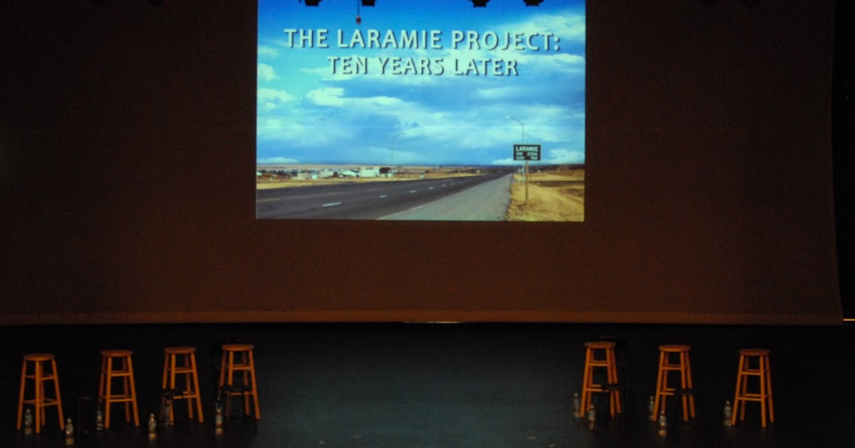 laramie project play The laramie project (2000) is a play by moisés kaufman and members of the tectonic theater project (specifically, leigh fondakowski, stephen belber, greg pierotti, barbara pitts, stephen wangh, amanda gronich, sara lambert, john mcadams, maude mitchell, andy paris, and kelli simpkins) about the reaction to the 1998 murder of university of wyoming.