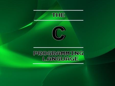c++ programming wallpaper  The C Language