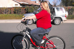Christmas Day on my new red Bike!
