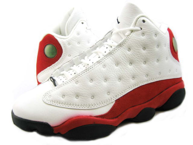 red and white jordans 13