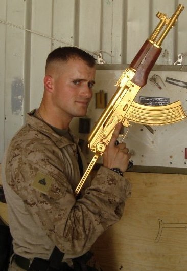 ak 47 gold. The gold AK 47 was a captured
